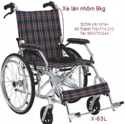Xe lăn nhôm du lịch 9kg X-63L Y Khoa Kim Minh