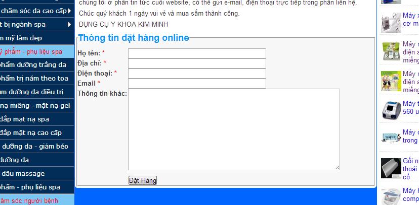 Hướng dẫn mua hàng online Y Khoa Kim Minh