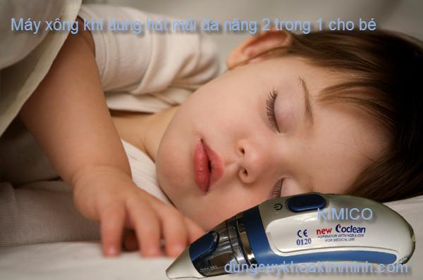 Máy xông hút mũi trẻ em 2 trong 1 Coclean0120