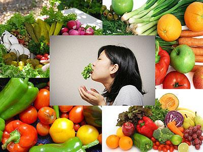 Thực phẩm rau củ quả làm sạch cơ thể