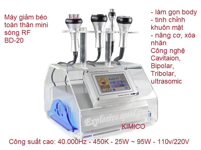 Giảm béo bằng công nghệ sóng Tripolar RF, RF đơn cực, RF lưỡng cực
