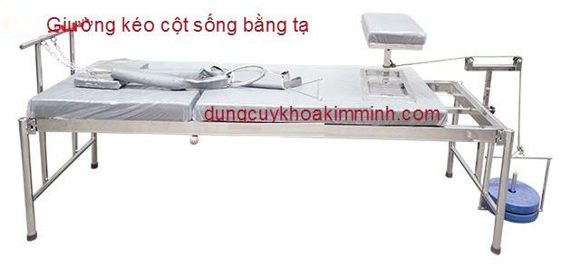 Giường kéo cột sống bằng tạ cẩn thận khi sử dụng