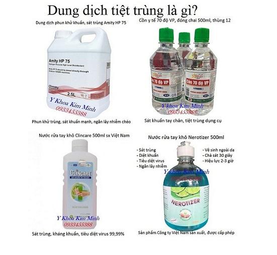 Dung dịch khử trùng y tế là gì, cách sử dụng hiệu quả