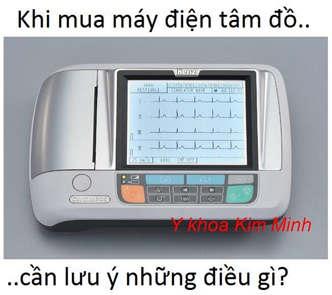 Máy điện tim 3 khi mua cần lưu ý