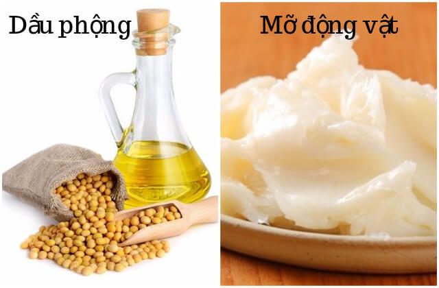 Sự khác nhau giữa chất béo mỡ động vật và dầu thực vật