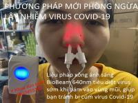 Phương pháp ngăn ngừa lây nhiễm virus Covid-19 bằng ánh sáng BioBeam 640nm