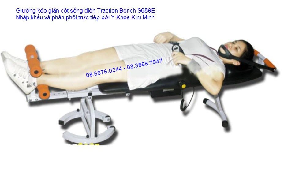 Giường kéo cột sống nhập khẩu Traction Bench S689E