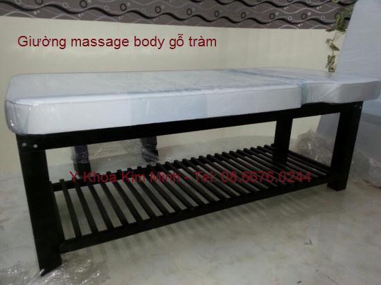 Giường massage body gỗ