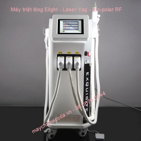 Máy triệt lông  3 trong 1 E-light, Laser Yag, Bio-polar RF