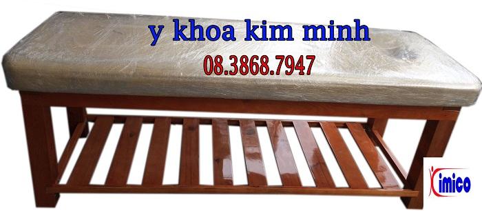 Giuong massage thẩm mỹ gỗ thông