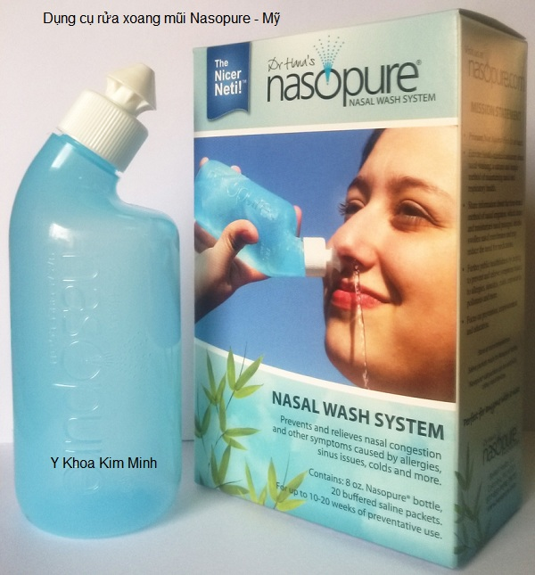 Dụng cụ rửa xoang mũi Nasopure sản xuất tại Mỹ