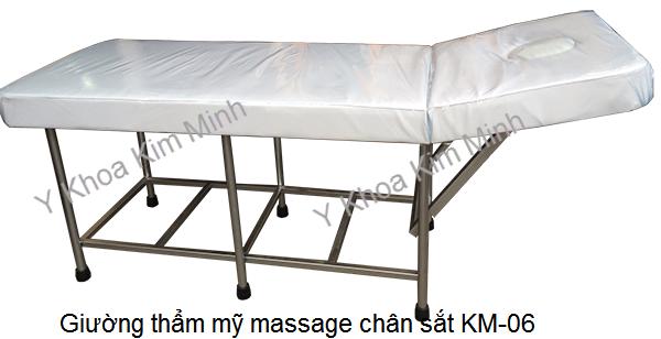 Bán giường massage thẩm mỹ chân sắt giá rẻ KM-06