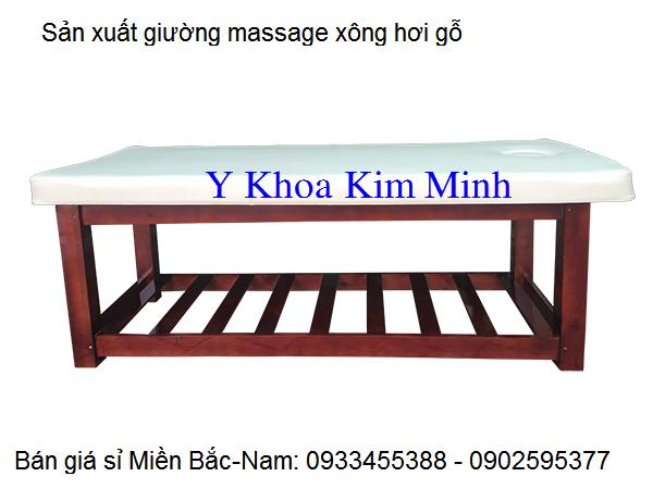 Giường massage xông hơi gỗ miền Bắc