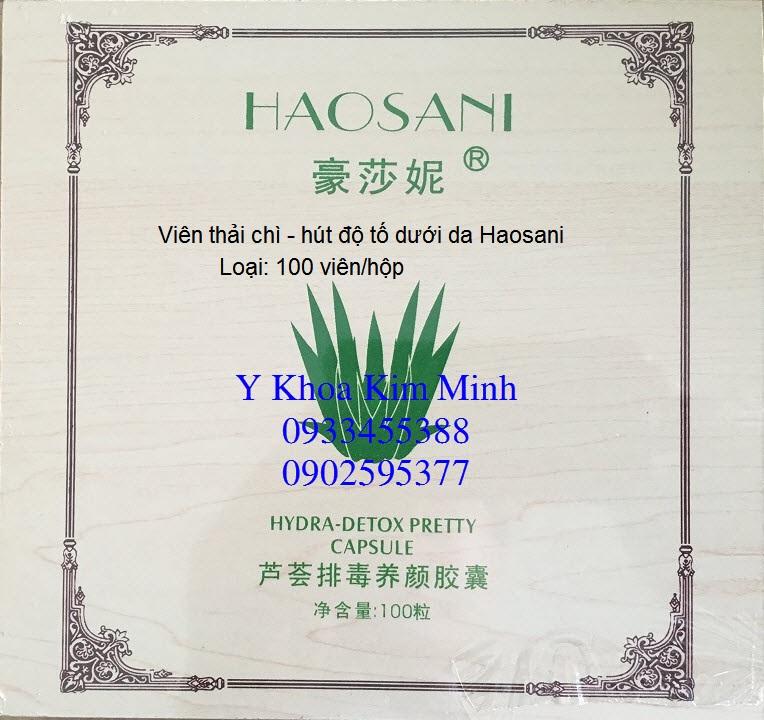 Viên thải chì hút độc tố dưới da Haosani 100 viên