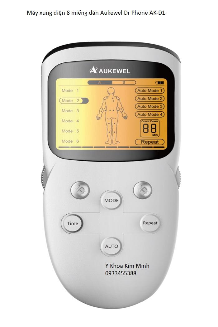 Máy xung điện 8 miếng dán Aukewel Dr Phone AK-D1