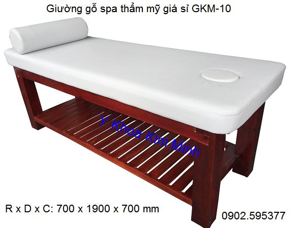 Giường gỗ massage spa giá sỉ GKM-10