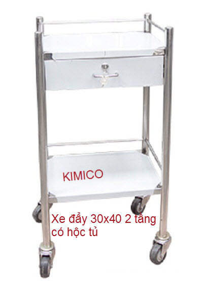 Xe đẩy dụng cụ tiêm thuốc 30x40