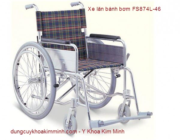 XE LĂN  Y TẾ BÁNH BƠM FS874L-46