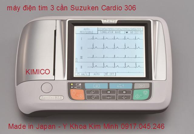 MÁY ĐIỆN TIM 3 CẦN SUZUKEN CARDIO 306 JAPAN