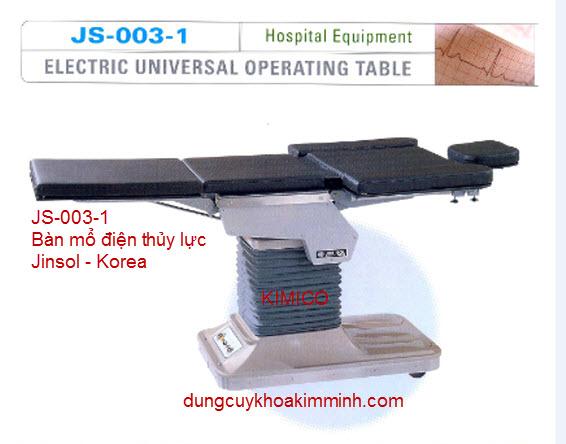 BÀN MỔ ĐIỆN THỦY LỰC JS-003-1 JINSOL