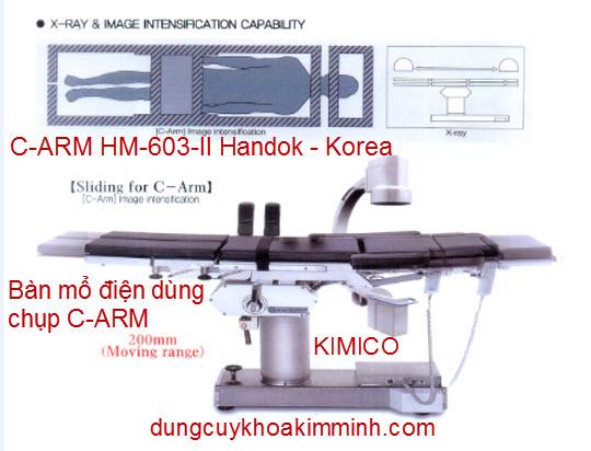 BÀN MỔ ĐIỆN ĐA NĂNG HM-603-II HANDOK