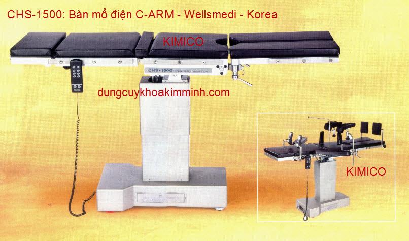 BÀN MỔ ĐIỆN CHS-1500 DÙNG CHO C-ARM
