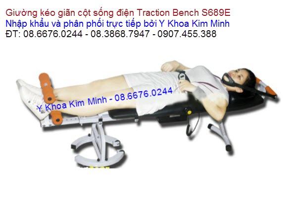 Traction Bench S689E giường kéo giãn cột sống điện