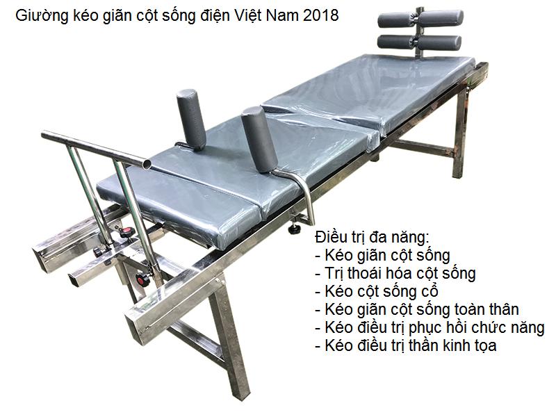 Giường kéo giãn cột sống điện Việt Nam 2018