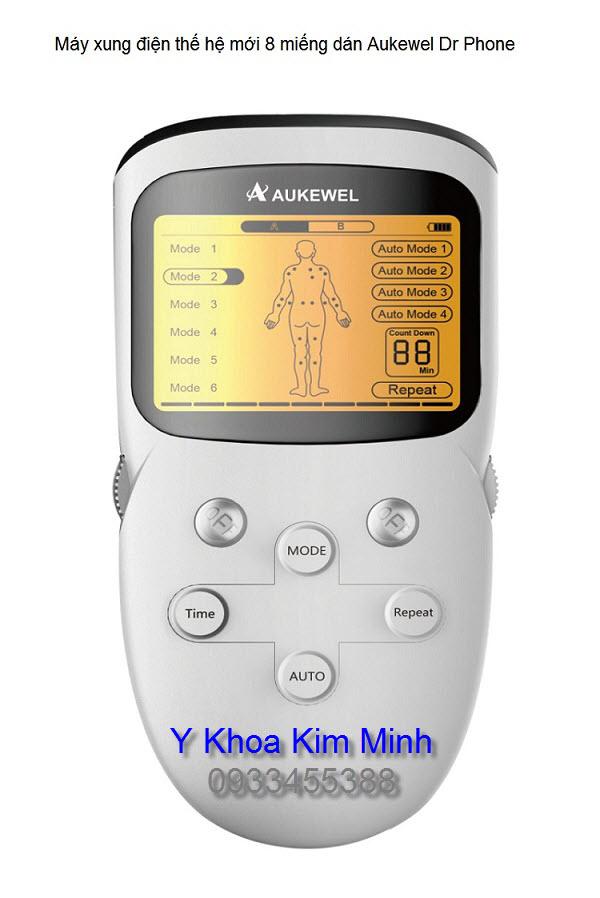 Máy vật lý trị liệu giảm đau 8 miếng dán Aukewel Dr Phone