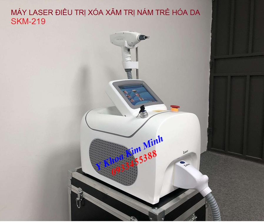 Máy laser điều trị xóa xăm trị nám trẻ hóa da SKM-219