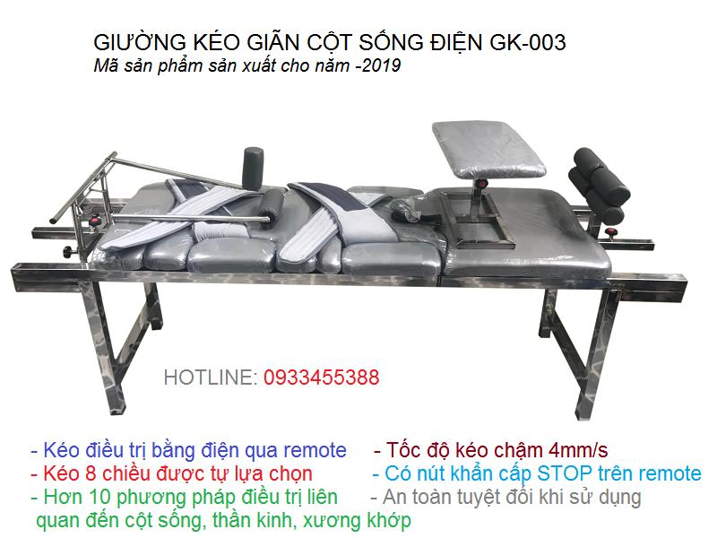 Giường kéo giãn cột sống lưng cổ bằng điện GK-003