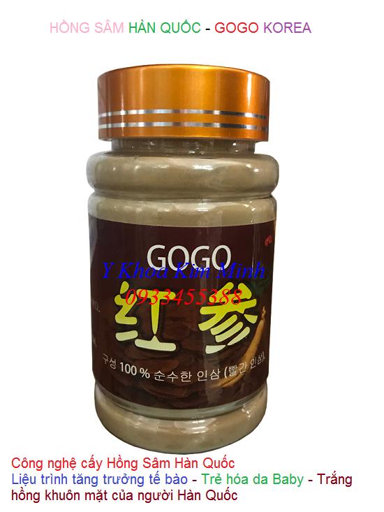 Hồng sâm Hàn Quốc GoGo cấy trẻ hóa da như em bé