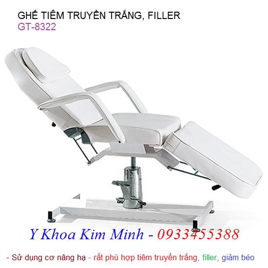 Ghế tiêm truyền trắng giảm béo filler GT-8322
