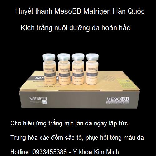 MesoBB Matrigen huyết thanh kích trắng da tức thì
