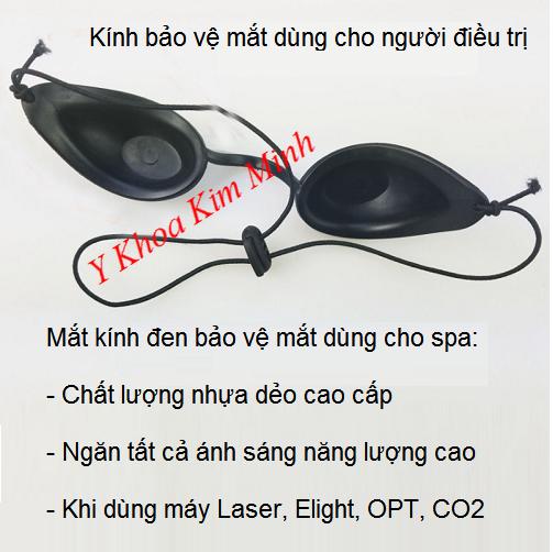 Kính nhựa đen bảo vệ mắt spa