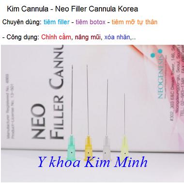 Kim Cannula tiêm filler, botox, mỡ tự thân Hàn Quốc