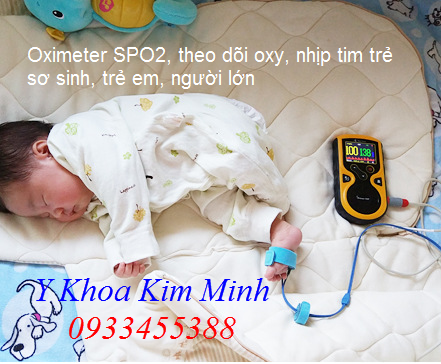 SPO2 Oximeter máy theo dõi oxy nhịp tim trẻ sơ sinh