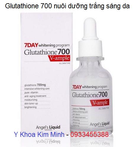 Glutathione 700 nuôi dưỡng trắng sáng da