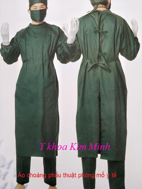 Áo choàng phẫu thuật phòng mỗ size S, M, L