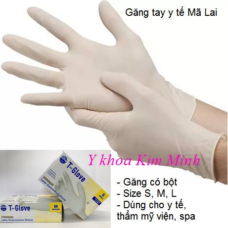 Găng tay y tế Mã Lai T-Glove size S, M, L