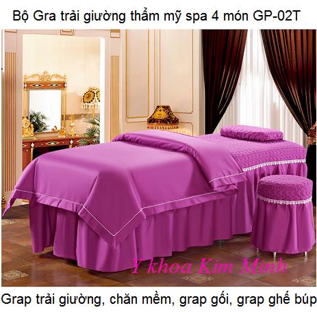 Gra trải giường massage thẩm mỹ 4 món GP-02T