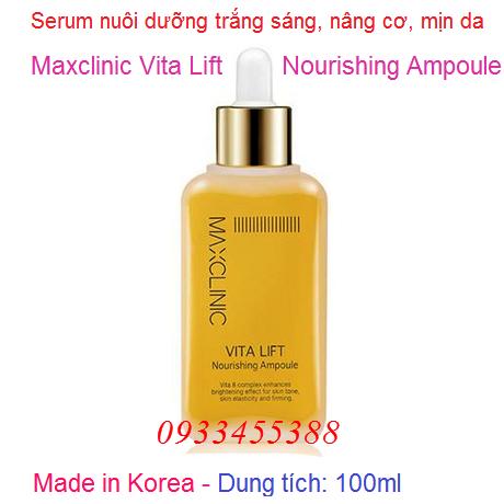 Huyết thanh Maxclinic Vita Lift Nourishing Ampoule Hàn