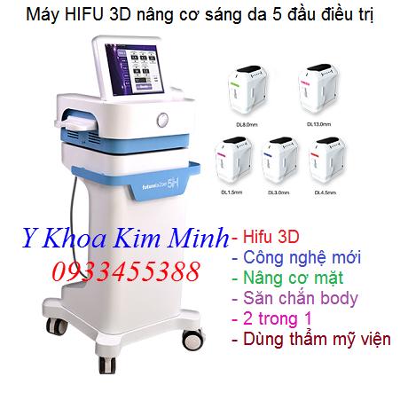 Máy Hifu 3D 5 đầu nâng cơ mặt thon gọn body