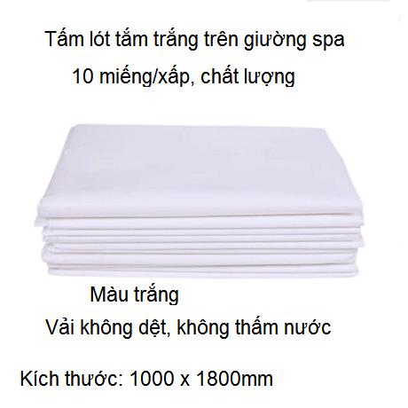 Miếng lót tắm trắng 1000x1800mm
