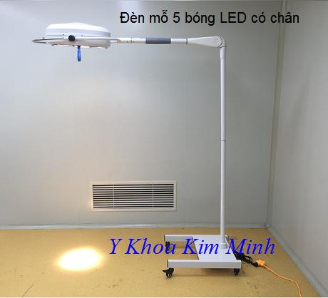 Đèn y tế 5 bóng LED chân di chuyển YD025L
