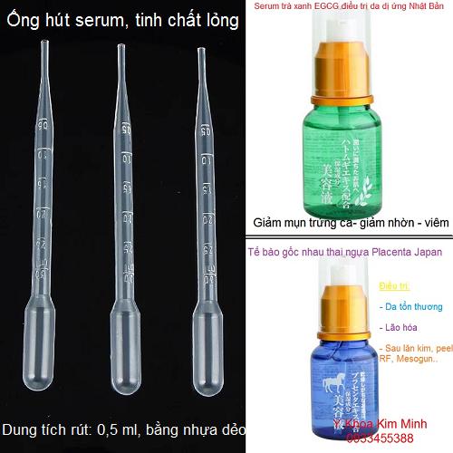 Ống rút serum mỹ phẩm bằng nhựa dùng 1 lần