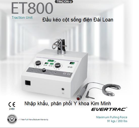Đầu kéo cột sống điện tự động Đài Loan ET800