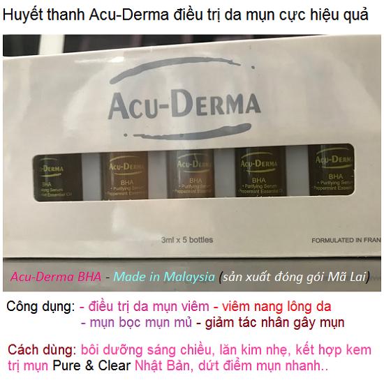 Huyết thanh Acu-Derma BHA trị mụn hiệu quả