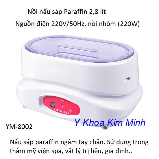 Nồi nấu sáp Paraffin ngâm chân YM-8002