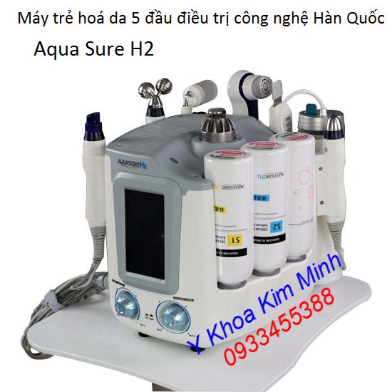 Máy trẻ hoá da mặt 6 đầu Aqua Sure H2 công nghệ Hàn Quốc